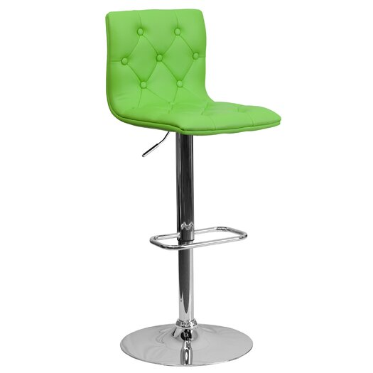 Flash Furniture Contemporary Tufted Vinyl Adjustable Height Bar Stool