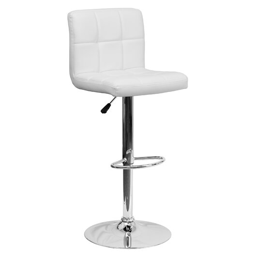 Flash Furniture Contemporary Quilted Vinyl Adjustable Height Bar Stool