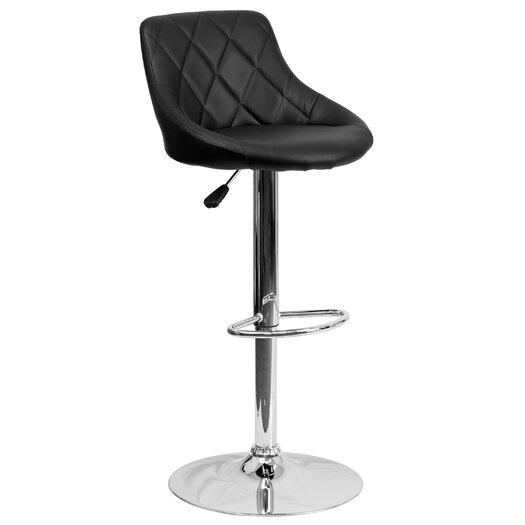 Flash Furniture Contemporary Vinyl Adjustable Height Bucket Seat Bar Stool