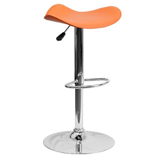 Flash Furniture Contemporary Vinyl Adjustable Height Bar Stool