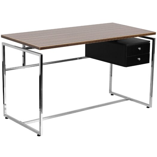 Flash Furniture Writing Desk with 2 Drawer Pedestal