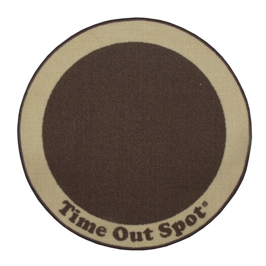 Child to Cherish Time Out Spot Brown Kids Rug