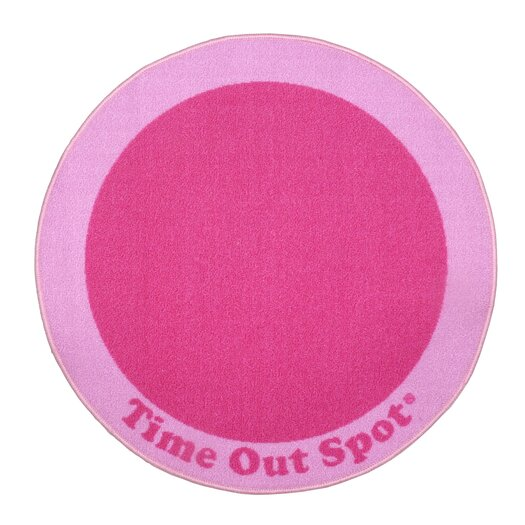 Child to Cherish Time Out Spot Pink Kids Rug