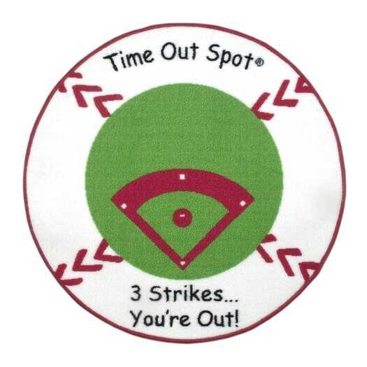 Child to Cherish Time Out Spot Baseball Kids Rug