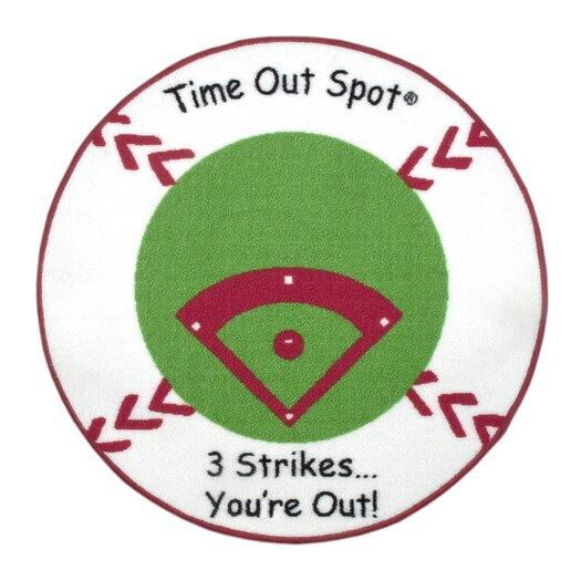 Child to Cherish Time Out Spot Baseball Kids Rug