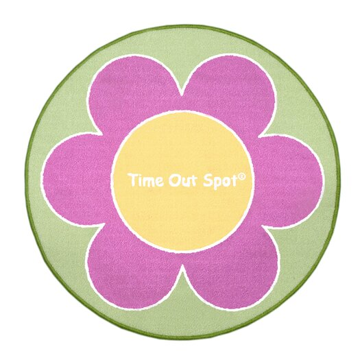 Child to Cherish Time Out Spot Flower Kids Rug