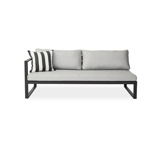 Harbour Outdoor Piano Left Arm Deep Seating Sofa with Cushions