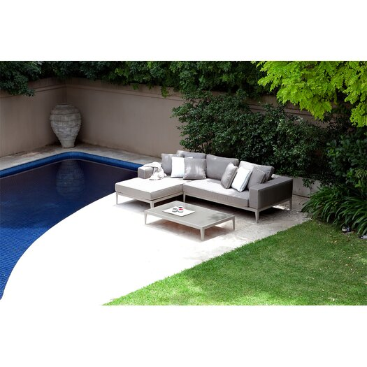 Harbour Outdoor Balmoral Left/Right Arm Chaise Sectional Piece with Cushions