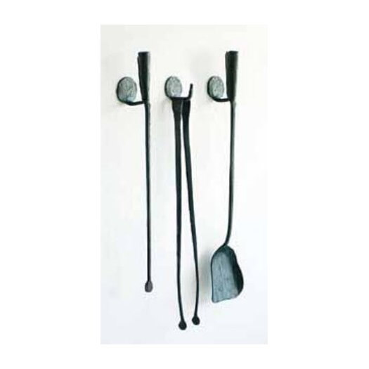 Conmoto Ferro and Fuoco 3 Piece Iron Fireplace Tools