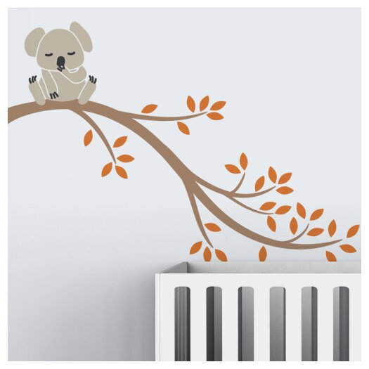 LittleLion Studio Tree Branches Koala II Wall Decal