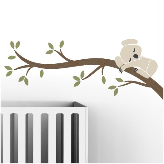 LittleLion Studio Tree Branches Koala I Wall Decal