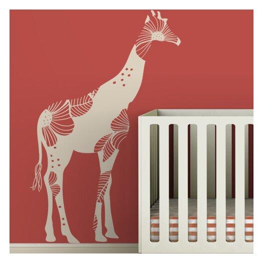 LittleLion Studio Fauna Baby Floral Giraffe Wall Decal