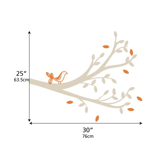 LittleLion Studio Tree Branches Tweet Wall Decal