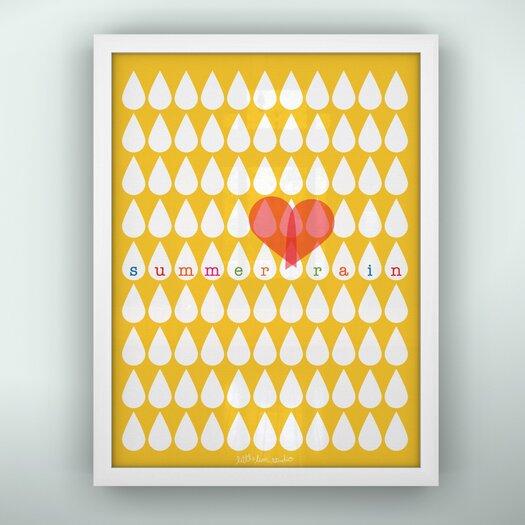 LittleLion Studio Prints Summer Raindrops Framed Art