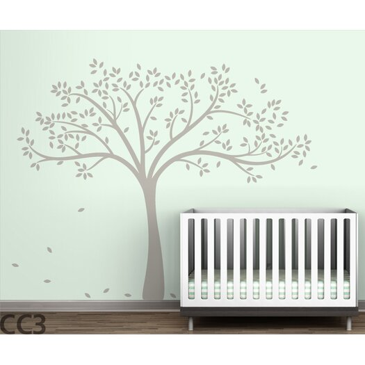 LittleLion Studio Trees Monochromatic Fall Wall Decal