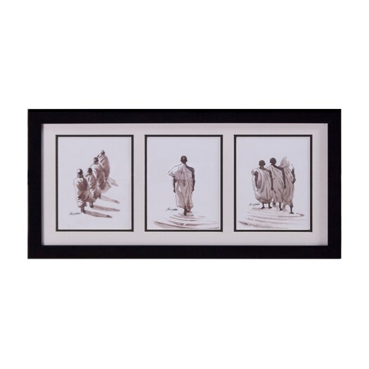 Phillips Collection Monks in File Framed Original Painting