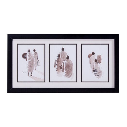 Phillips Collection Three Monks Framed Original Painting