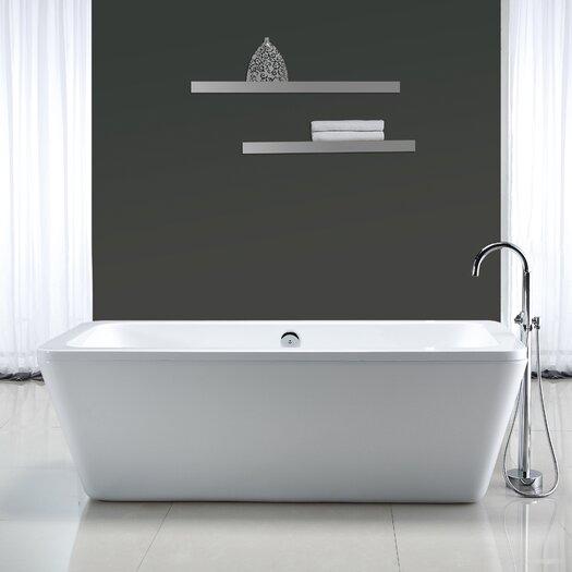 """Ove Decors Kido 69'' x 23"""" Acrylic Freestanding Bathtub"""