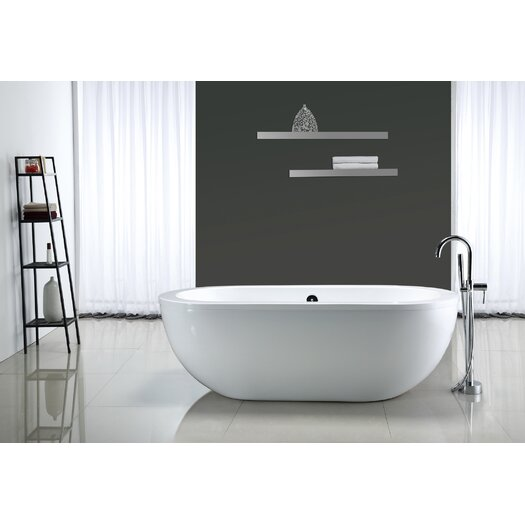 "Ove Decors Serenity 71'' x 34"" Acrylic Freestanding Bathtub"