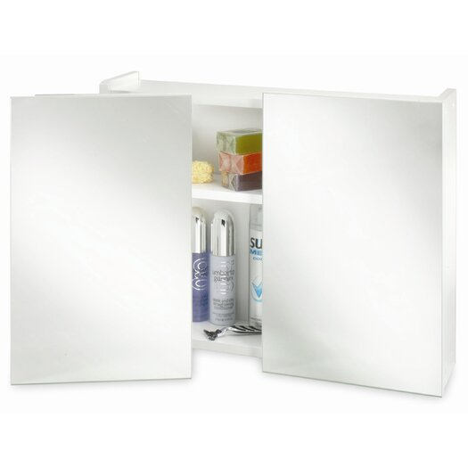 "Croydex Swivel 23.62"" x 18.5"" Surface Mount Medicine Cabinet"