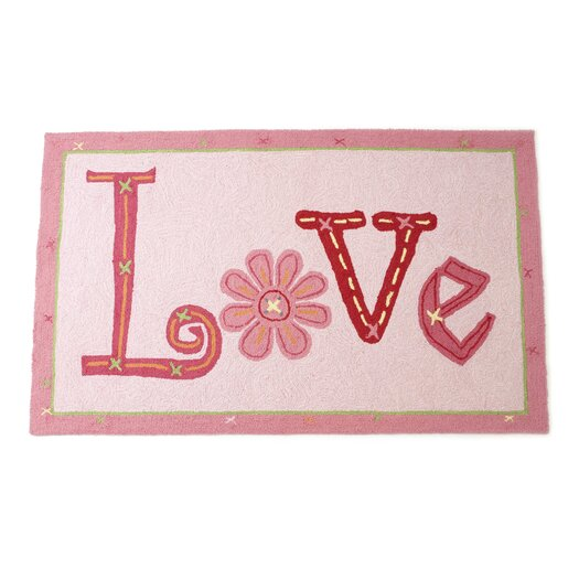 The Little Acorn Love Pink Area Rug
