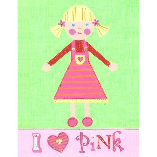 The Little Acorn Pink Girl - Pinky Canvas Art