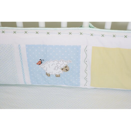 The Little Acorn Sweet Pea Baby 4 Piece Crib Bedding Set