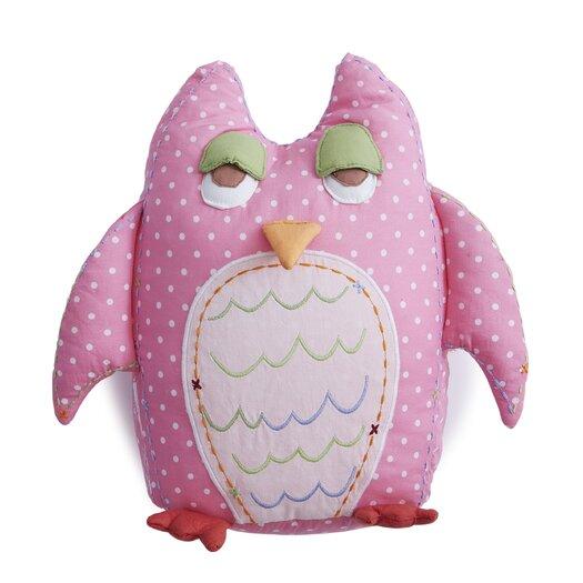 The Little Acorn Baby Owls Throw Pillow