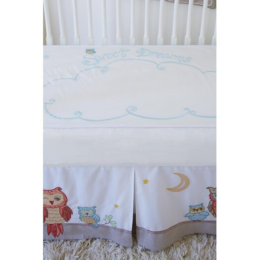 The Little Acorn Baby Owls Sweet Dreams Fitted Sheet