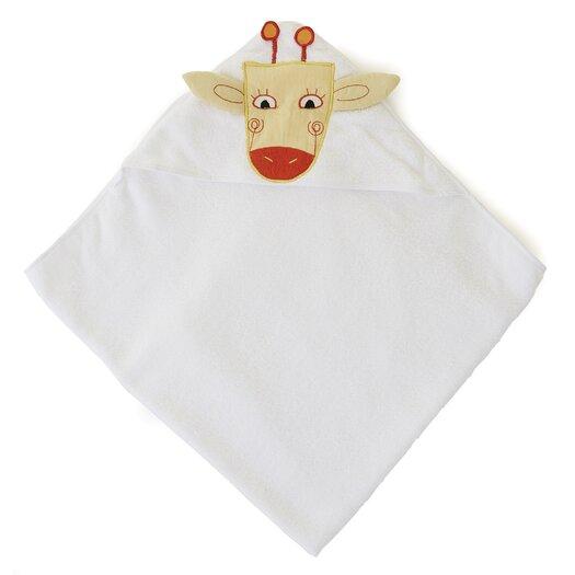 The Little Acorn Funny Friends Giraffe Hooded Towel