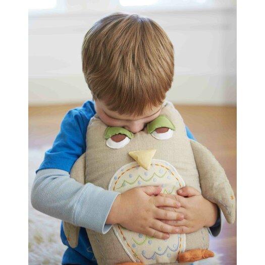 The Little Acorn Baby Owls Linen Pillow