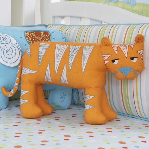 The Little Acorn Funny Friends Tooth Fairy Tiger Cotton Pillow