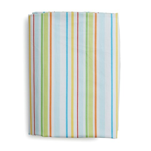 The Little Acorn Funny Friends Stripe Fitted Sheet