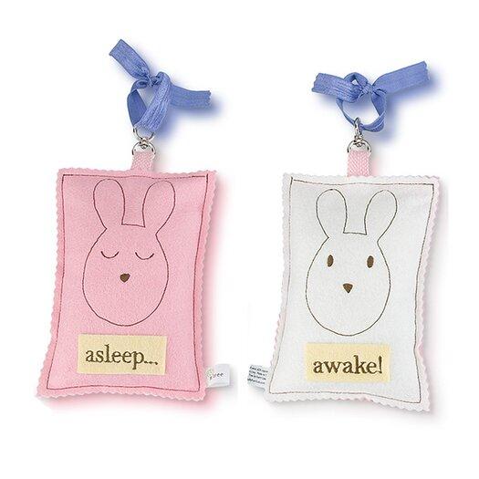 Tree by Kerri Lee Bunny Asleep / Awake Door Hanger
