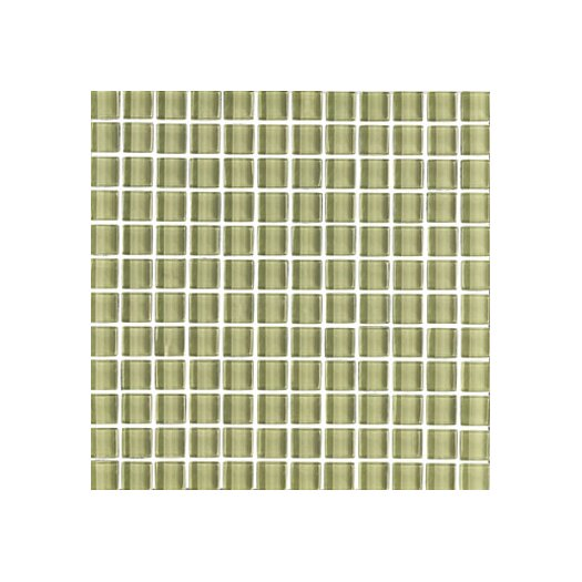 "Interceramic Shimmer 1"" x 1"" Ceramic Glossy Mosaic in Meadow"