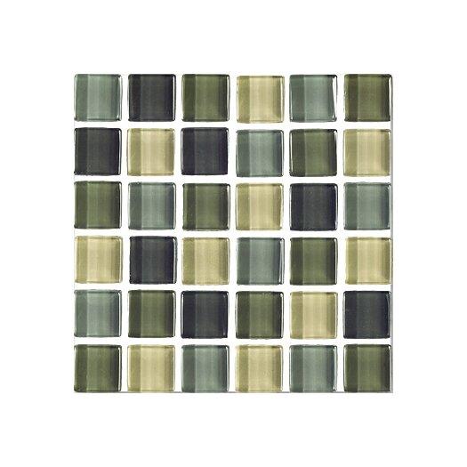 "Interceramic Shimmer Blends 2"" x 2"" Glossy Mosaic in Ocean"