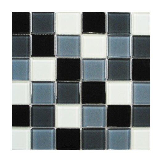 Interceramic Shimmer Blends Ceramic Glossy Mosaic in Shadow