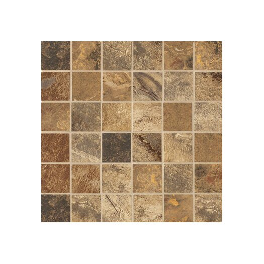 "Marazzi Jade 2"" x 2"" Decorative Square Mosaic in Chestnut"