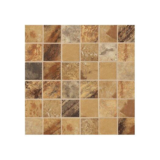 "Marazzi Jade 2"" x 2"" Decorative Square Mosaic in Ochre"