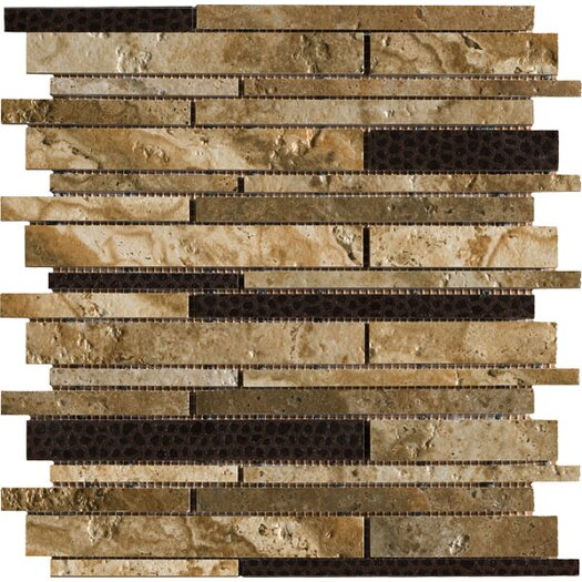 Marazzi Archaeology Random Sized ColorBody Porcelain Strip Mosaic in Chaco Canyon