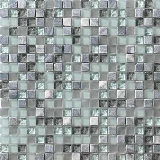 Marazzi Crystal Stone Glass Frosted Mosaic in Breeze
