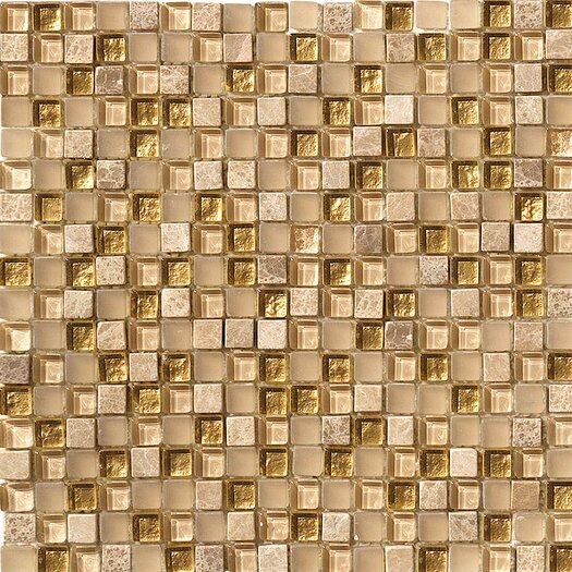 Marazzi Crystal Stone Glass/Stone Mosaic in Gold