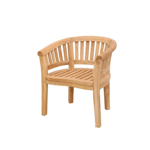 Anderson Teak Curve Extra Thick Wood Arm Adirondack Chair