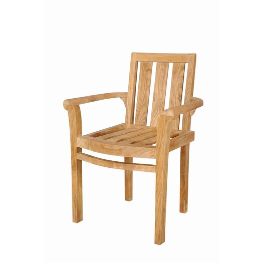 Anderson Teak Classic Stackable Dining Arm Chairs