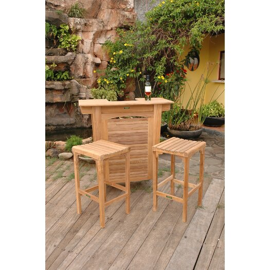 Anderson Teak Montego 3 Piece Bar Height Dining Set