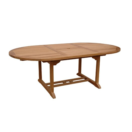 "Anderson Teak Bahama 87"" Oval Extension Dining Table"