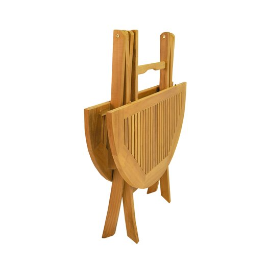 "Anderson Teak Windsor 31"" Round Picnic Folding Table"