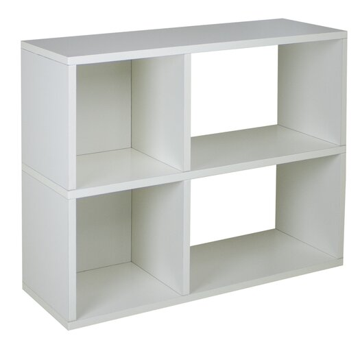 "Way Basics zBoard Eco 2 Shelf Chelsea 24.8"" Bookcase and Cubby Storage"