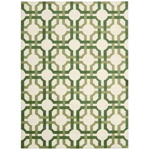 Waverly Artisanal Delight Green Leaf Area Rug