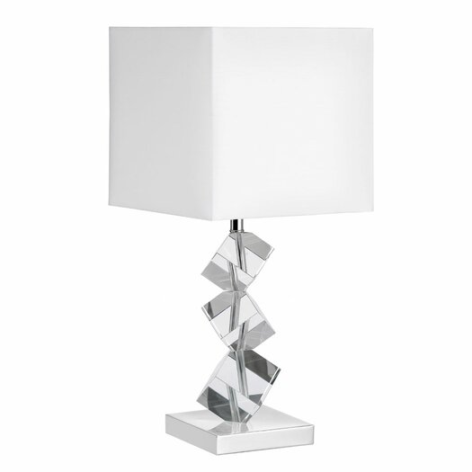 """Dainolite Crystal 21"""" H Table Lamp with Square Shade"""